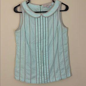 LOFT mint cotton blouse XS